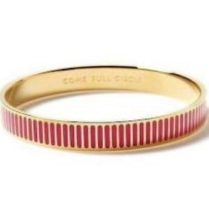 Kate Spade Gold Pink Enamel Full Circle Bracelet